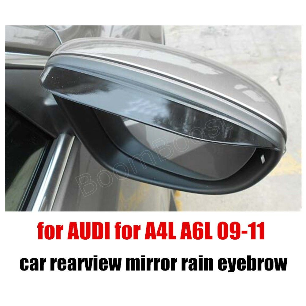2 pieces car rearview mirror rainproof blades car back mirror eyebrow rain cover for AUDI for A6L A4L 09-11 car styling