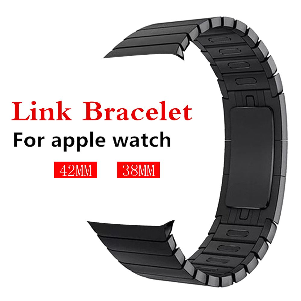 316L stainless steel watchband For Apple Watch 3/2/1 Link bracelet band strap 38mm/42mm removeable belt metal buckle for iwatch