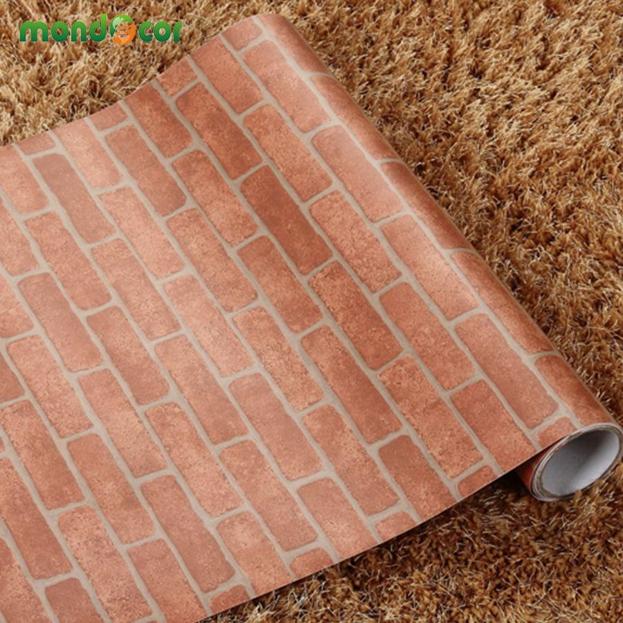 60 cm X 10 m Rustique Home Decor Wall Sticker Vinyle Vintage Marbre Brique Auto-adhésif Papier Peint Rouleau PVC Faux Effet de pierre Papier Peint