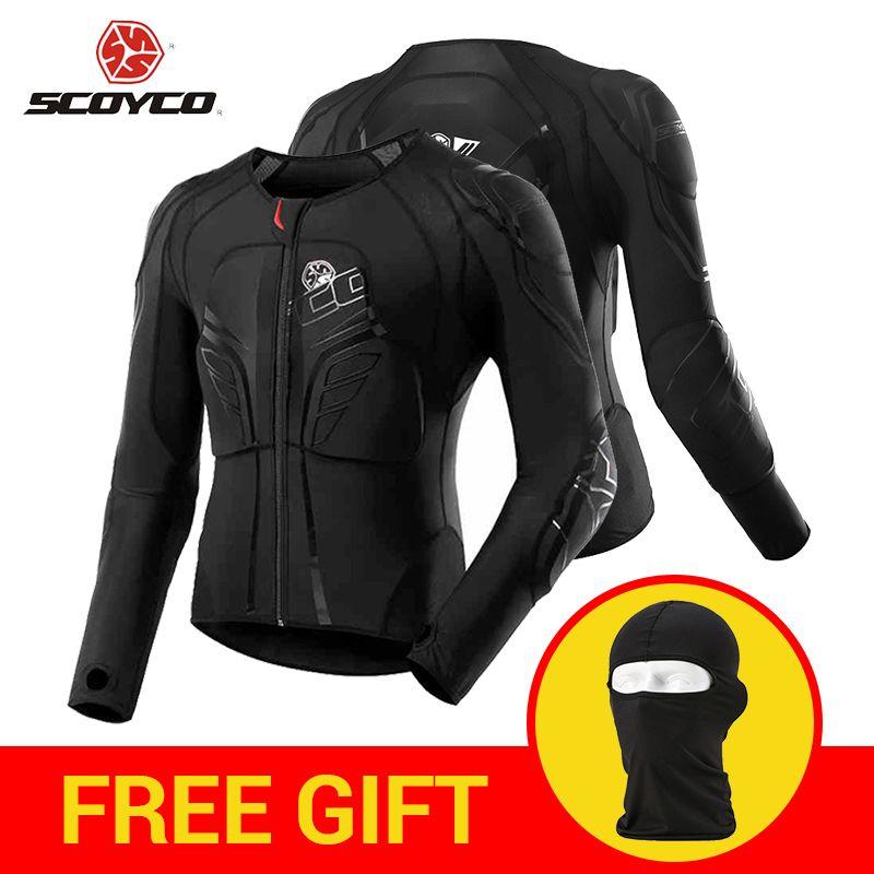 SCOYCO Motorradjacke Motocross Schutz Getriebe Moto Jacke Motorrad Rüstung Racing Körper Rüstung Schwarz Moto Rüstung