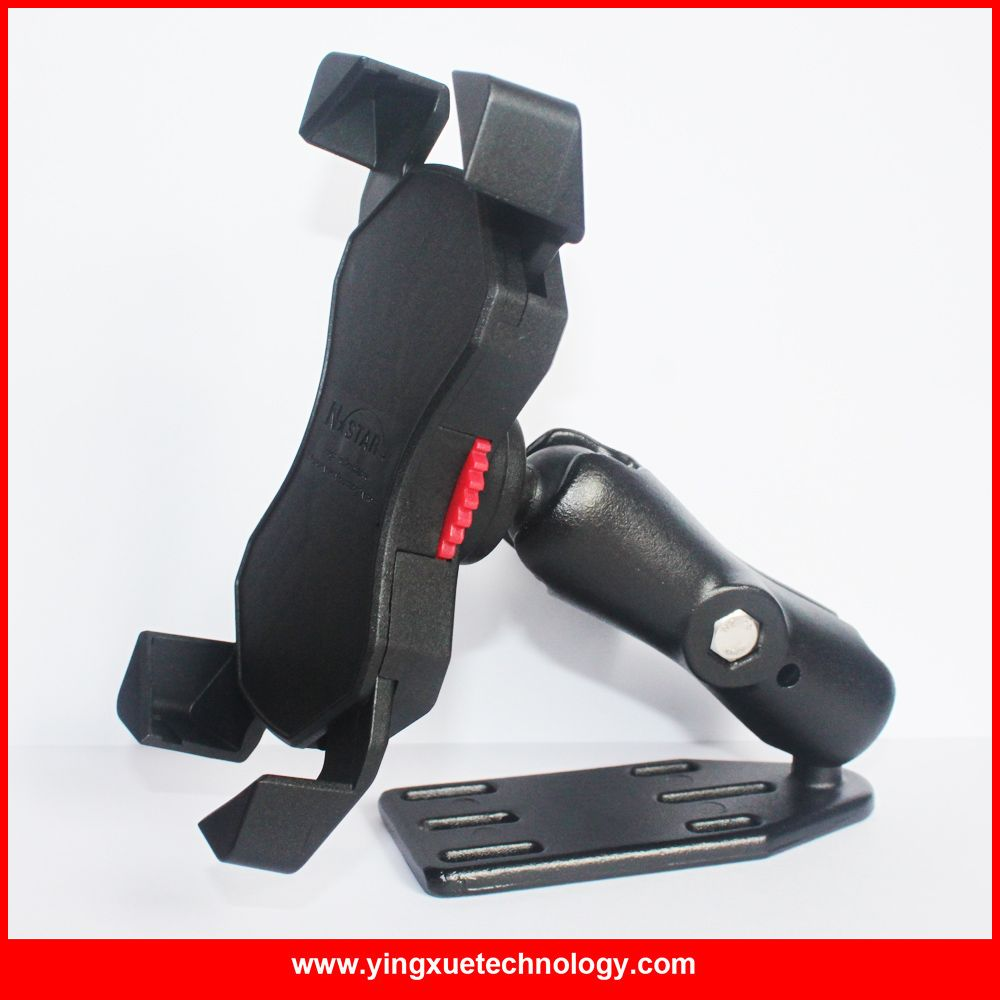 Motorcycle Scooter Heavy Duty Brake/Clutch Reservoir Mobile Phone Mount Holder Stand for 4-6 inch Smart Phones and GPS