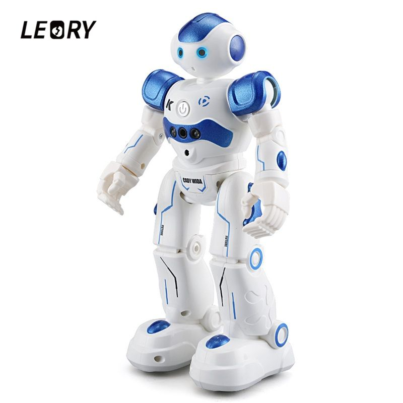 LEORY RC Robot Intelligent Programming Remote Control Robotica Toy Biped Humanoid Robot For Children Kids <font><b>Birthday</b></font> Gift Present