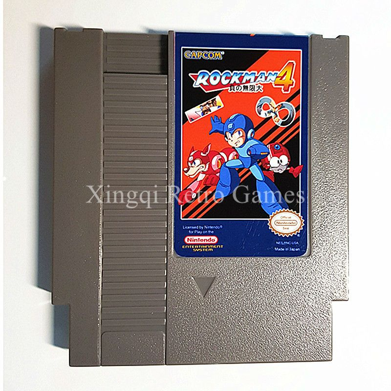 Nintendo Entertainment System NES Game Rockman 4 Video Game Cartridge Console Card US/EU Universal English Version