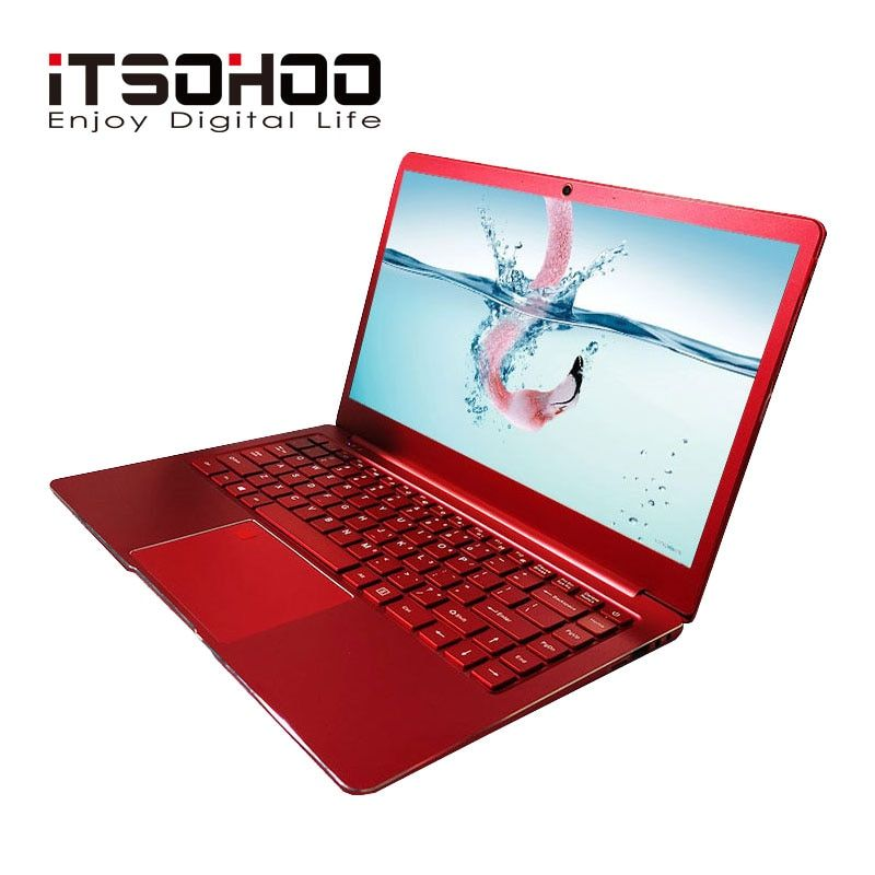 14 zoll Windows 10 laptop Metall Notebook computer Rot Blau farbe 8 GB RAM intel gaming laptops iTSOHOO Quad core Apollo ultrabook