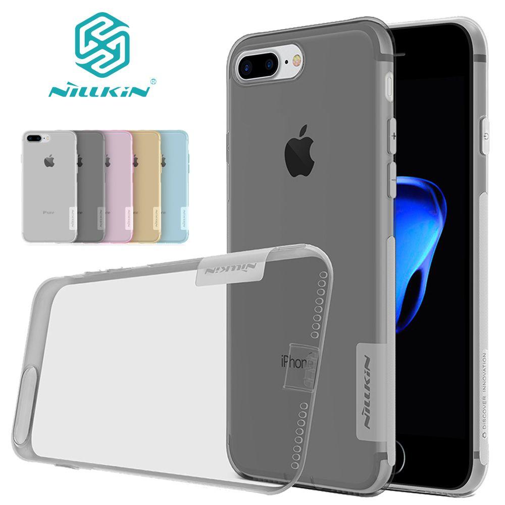 Nilkin pour iphone X 10 8 7 6 S 6 5S SE Cas Nillkin Nature clair Ultra Mince TPU Protecteur de Couverture de Silicone pour iphone 8 7 6 6 S Plus