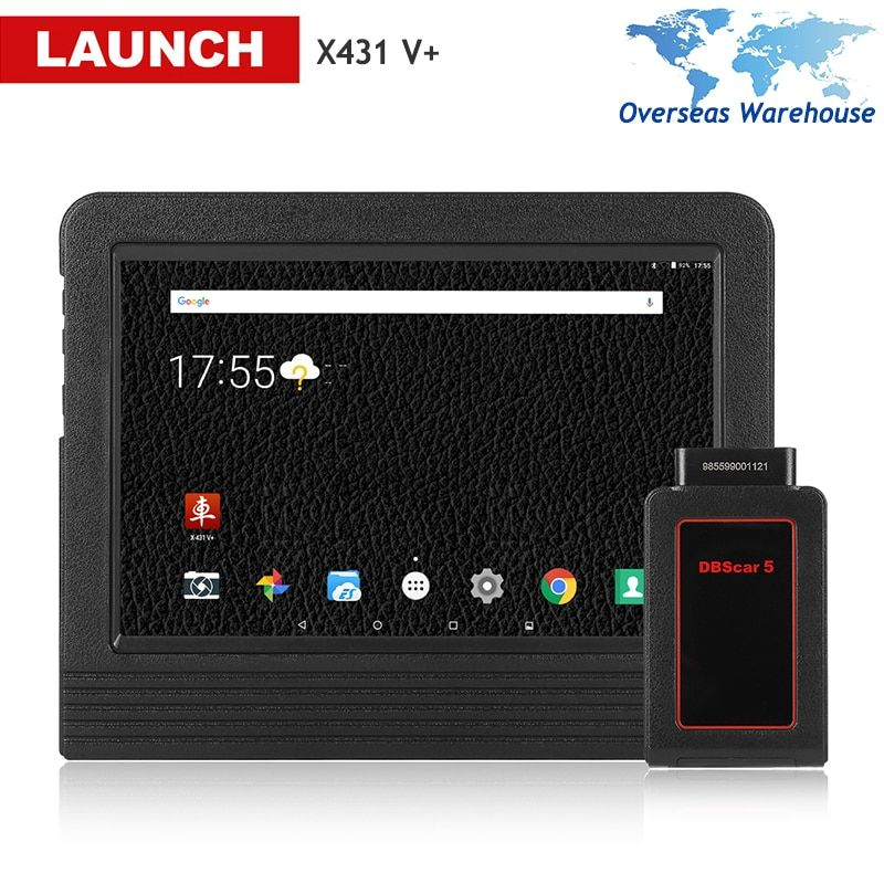 Launch X431 V+ Full System Diagnostic OBD2 Android Wifi Tablet Scanpad Scan Tool with 2 Years Online Update DBScarII Bluetooth