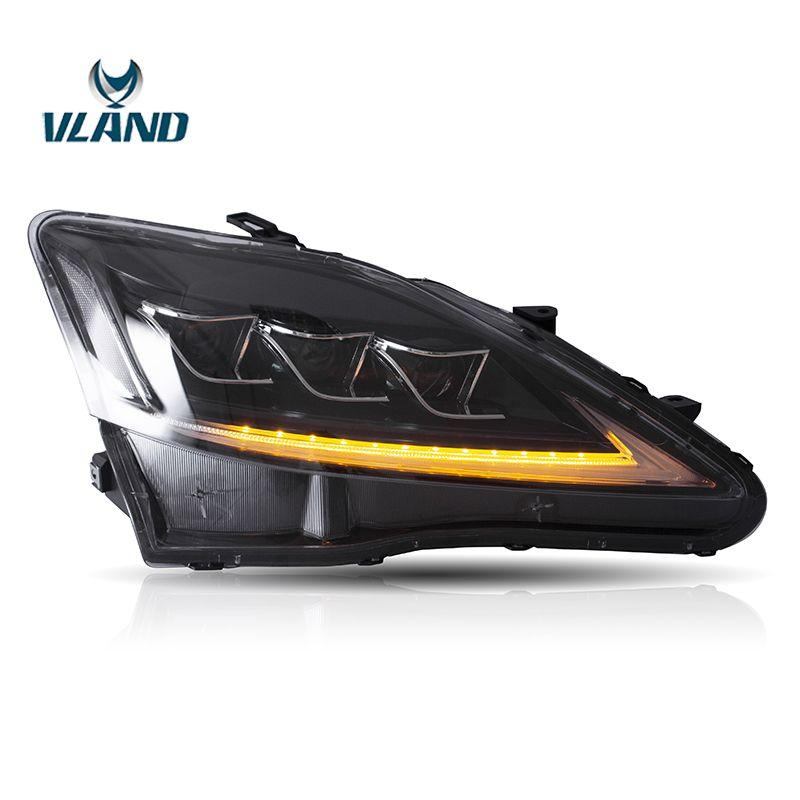 Vland Fabrik Auto Zubehör Kopf Lampe für Lexus IS250 2006-2012 Voll FÜHRTE Kopf Licht mit Sequentielle Anzeige
