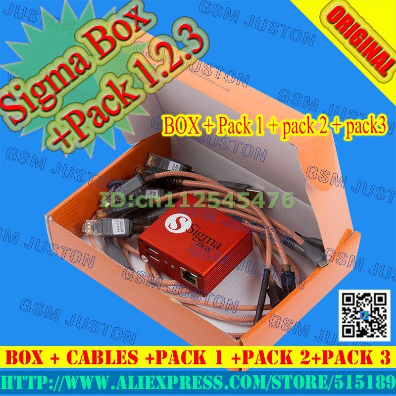 Gsmjustoncct sigma boîte + pack1 + pack2 + pack3 Actived/SIGMA BOÎTE + PACK1 + PACK2 + PACK3 Pour Huawei + Livraison Gratuite Hong Kong Post Air Mail