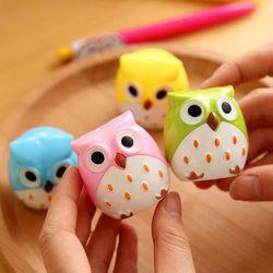4 couleur Mignon Kawaii Belle En Plastique Hibou Automatique Crayon Taille-Crayon Papeterie Créative Cadeaux Pour Enfants Fournitures Scolaires