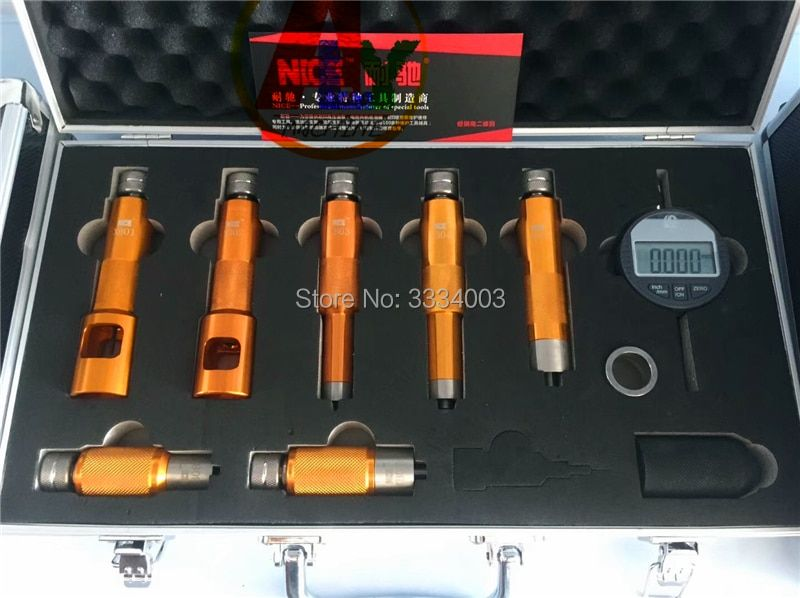 2018 common rail injector nozzle valve measuring tool for Bosch and Denso injector nozzles, common rail injector repairing tools