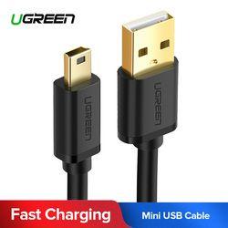 Ugreen мини USB кабель мини-usb к USB кабель для быстрой передачи данных для MP3 MP4 плеер Автомобильный видеорегистратор gps цифровая камера HDD Mini USB
