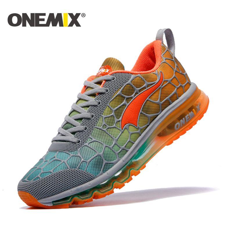 ONEMIX 2016 chaussures de course pour homme coussin sneaker d'origine zapatillas deportivas hombre mâle sport en plein air sport chaussures hommes