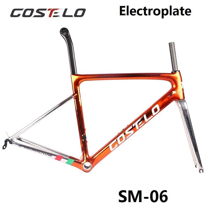2018 Costelo Speedmachine 3,0 ultra licht 790g carbon rennrad rahmen Costelo fahrrad bicicleta rahmen carbon faser billige rahmen