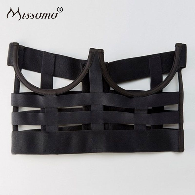Missomo Strap Hollowed Out Decorative Bras Sexy Push Up Top Bralette Underwear 2018 New Women Fashion Lingerie