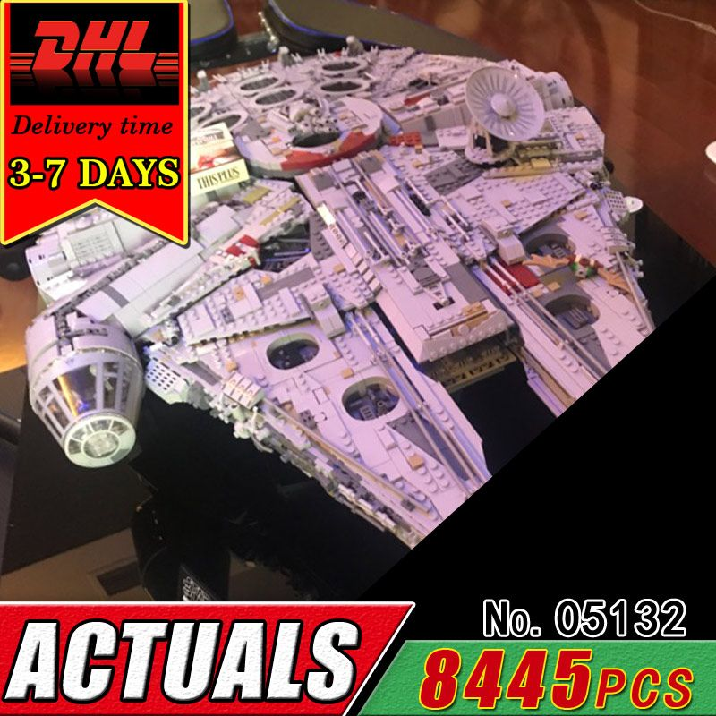 DHL LEPIN 05132 8445Pcs The Ultimate Collector's Destroyer Model Building Block Set Star Compatible Brick Military War Toy Child