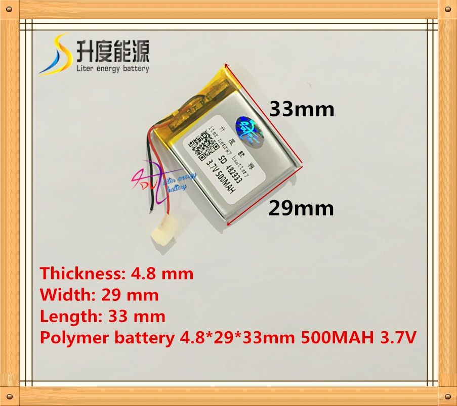 482933 500mah 3.7V Lithium polymer Battery with Protection Board For MP3 MP4 GPS PSP Digital Products Free Shipping