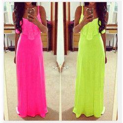 Women Lace Cotton Dress Maxi Long Starp Brace Sleeveless Dresses Solid Color Summer Light Crew Neck High Quality New Fashion