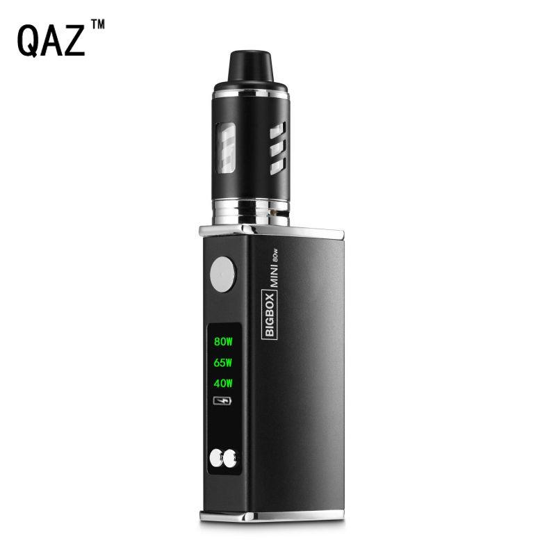 QAZ 80W Electronic Cigarette Vape Mod Box kit 2200mAh Battery 3ml 0.3ohm Atomizer Pen LED Vaporizer Hookah Vaper E Cigarettes
