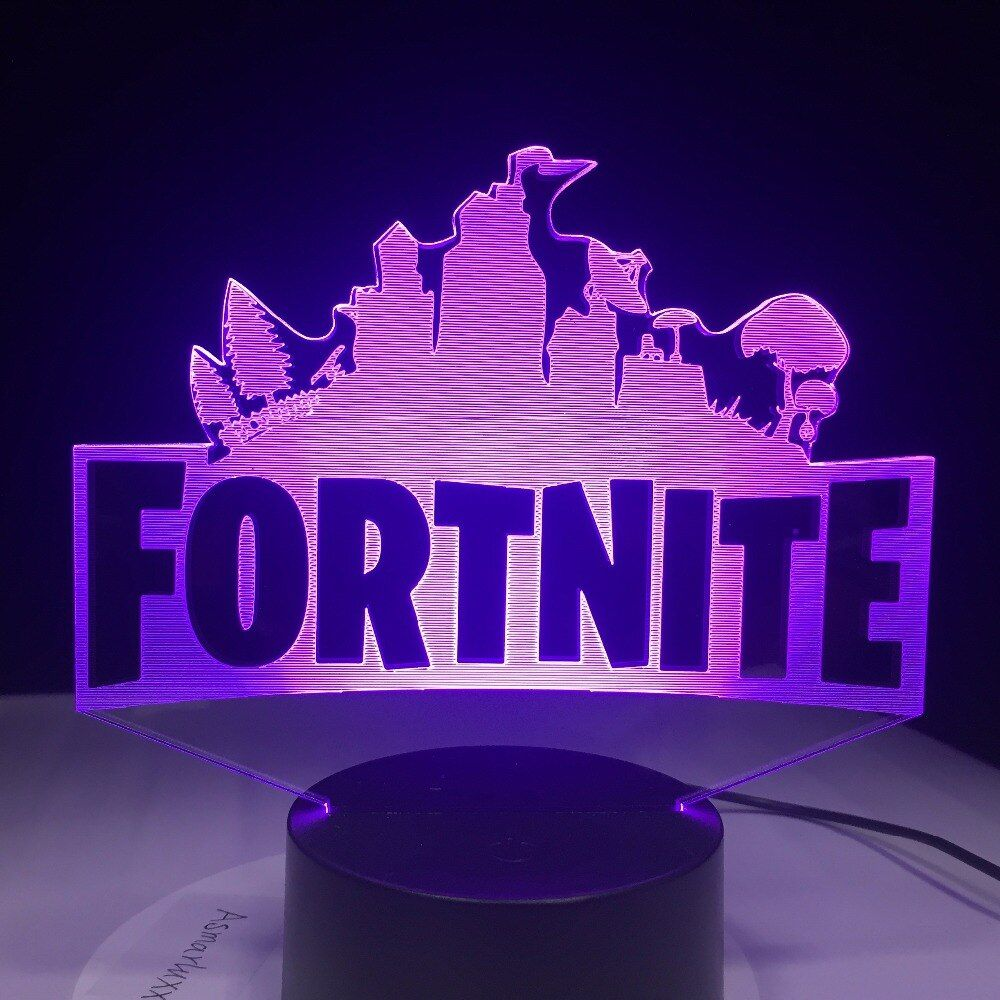 Fortnite Souvenir 3D Lamp Chug Jug Changeable Mood Lamp 7 Color Light Base Cool Night Light for Birthday Holiday Gift Drop Ship