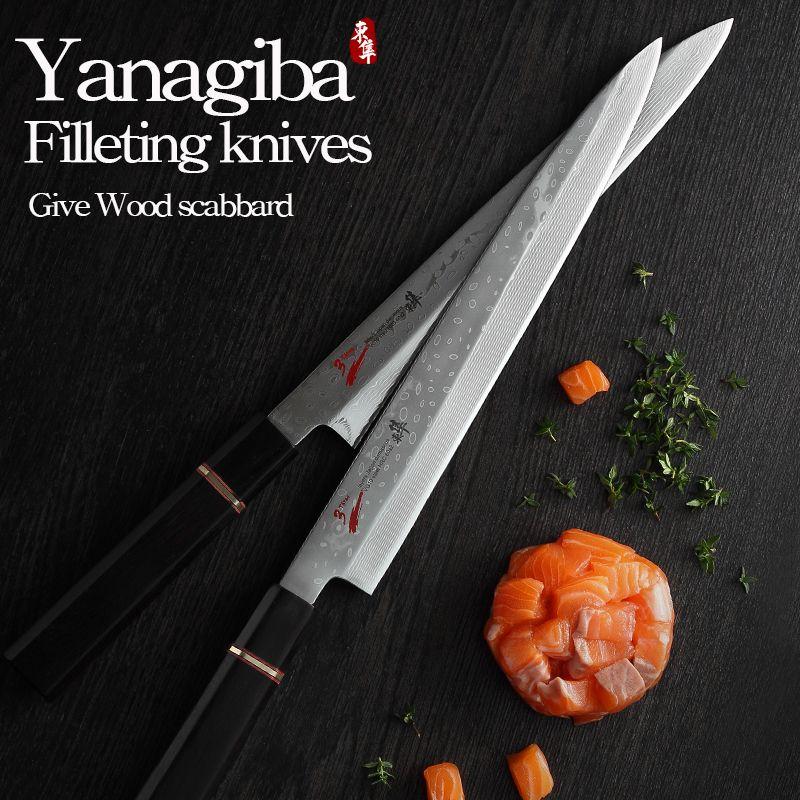 Japan der 33 schicht VG10 Damaskus stahl messer Filetieren messer Yanagiba sashimi Sushi Japanischen kochen Hackmesser Slicing Petty