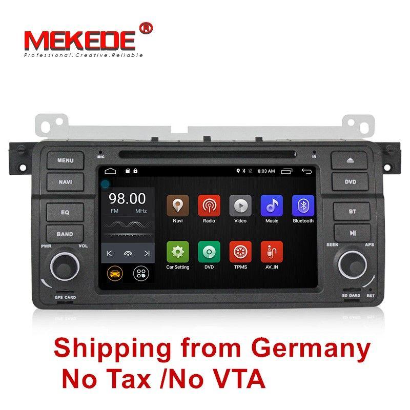 Reine Android7.1 Quad Core Auto Radio DVD GPS Navigation Stereo für E46 3 Serie M3 1998-2006 RAM 2 gb HD 1024*600 freies verschiffen