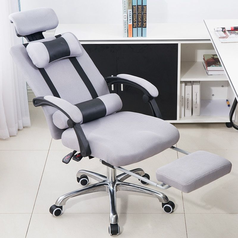 Boss Office Armchair Swivel Computer Chair Household Mesh Staff Chair Ergonomic Lift Chair Comfortable Seat With Footrest