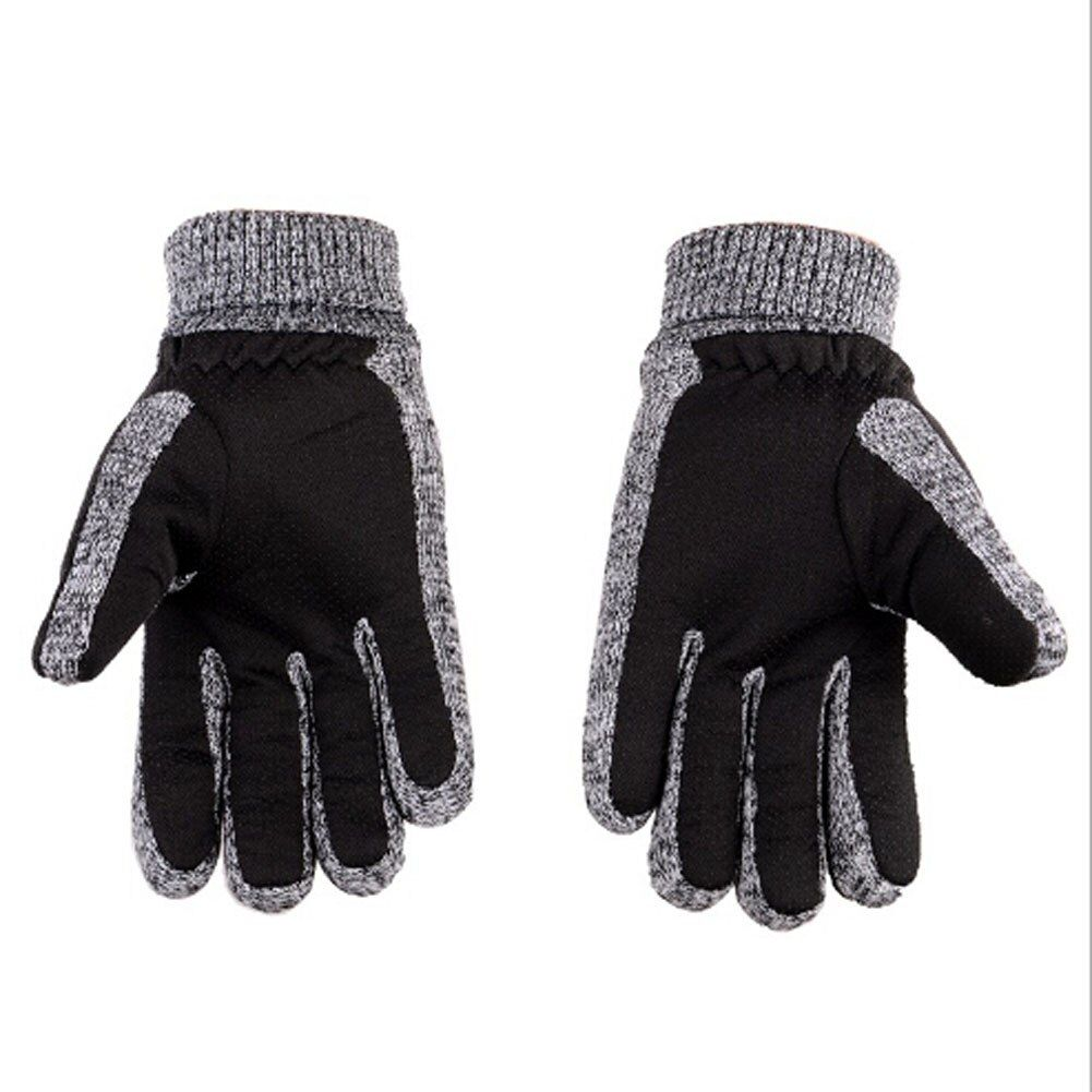 High Quality Real Pigskin Leather Gloves Skid Thicken Fleece Warm Cotton Winter Long Gloves Male Leather Gloves