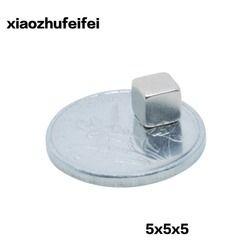 Xiaozhufeifei 20 pcs/lot 5x5x5 Forte Rare Terre Bloc carré Aimants En Néodyme 5x5x5mm Permanete 5*5*5