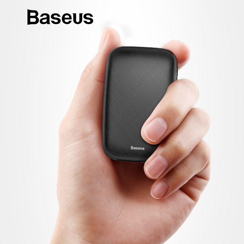 Baseus mini batterie externe 10000 mAh Pour iPhone X Xs Max batterie externe portable Pack Powerbank Pour Samsung S9 S8 Note9 Xiao mi mi 9