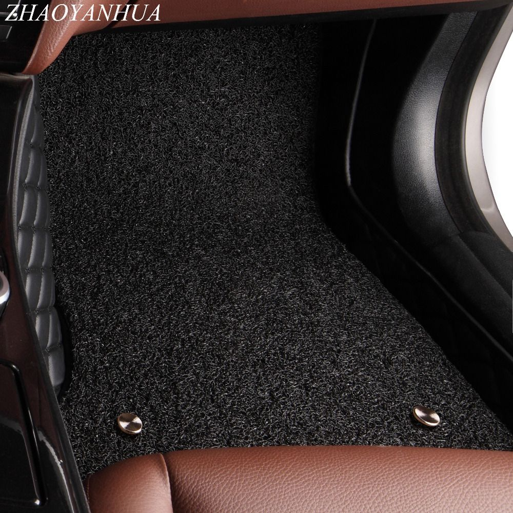 ZHAOYANHUA Car floor mats for Nissan Sentra Sylphy Murano Rouge X-trail Altima Versa Tida 5D car styling rugs carpet liners