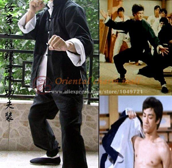 Vingate Bruce Lee 3 sets Classic Tang suit Kung Fu martial arts wing chun outfit uniform Fist of Fury Costume Cotton Comfort