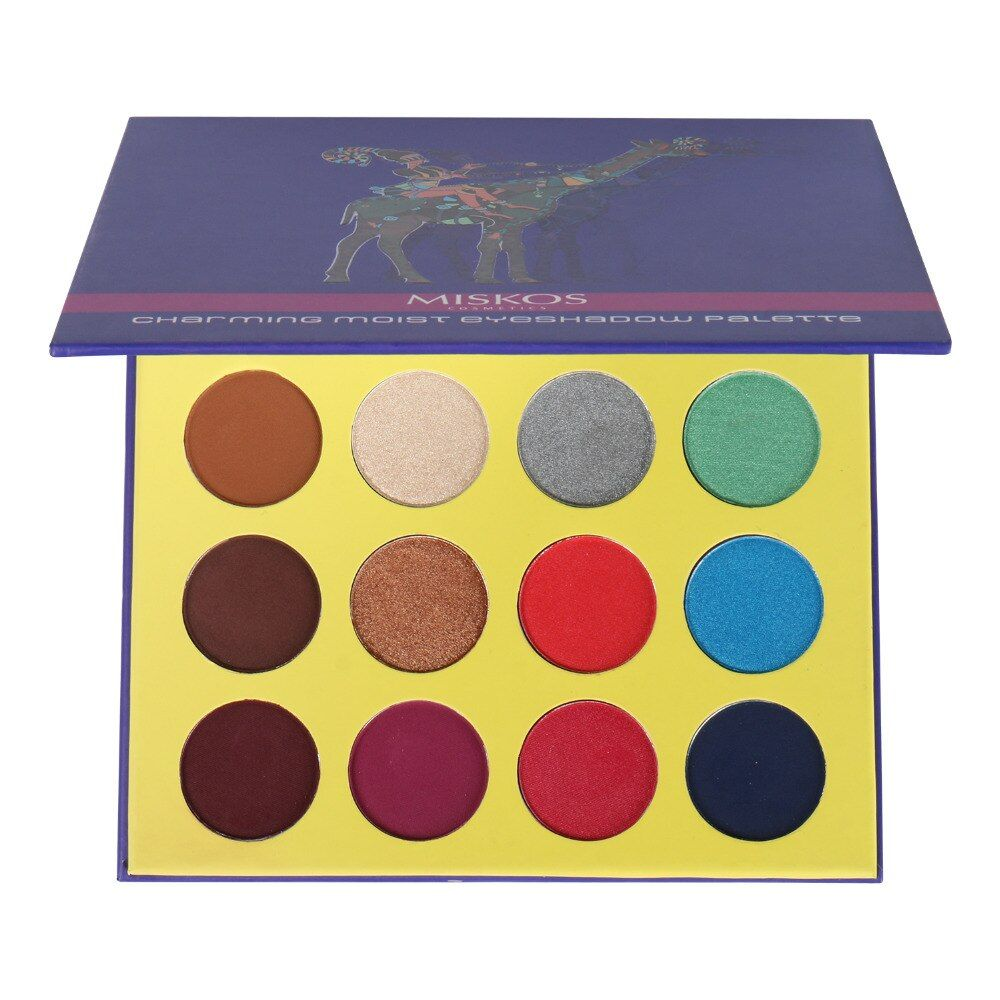 Makeup Palette Eyeshadow 16 Colors Shimmer and Shine Foiled Eye Shadow Palette Cosmetics Professional Maquillage Sombra