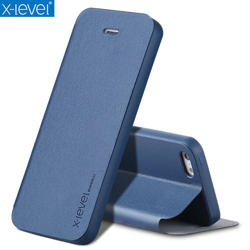 Étuis pour iphone SE 5 5 S en cuir Ultra mince pour livre d'affaires