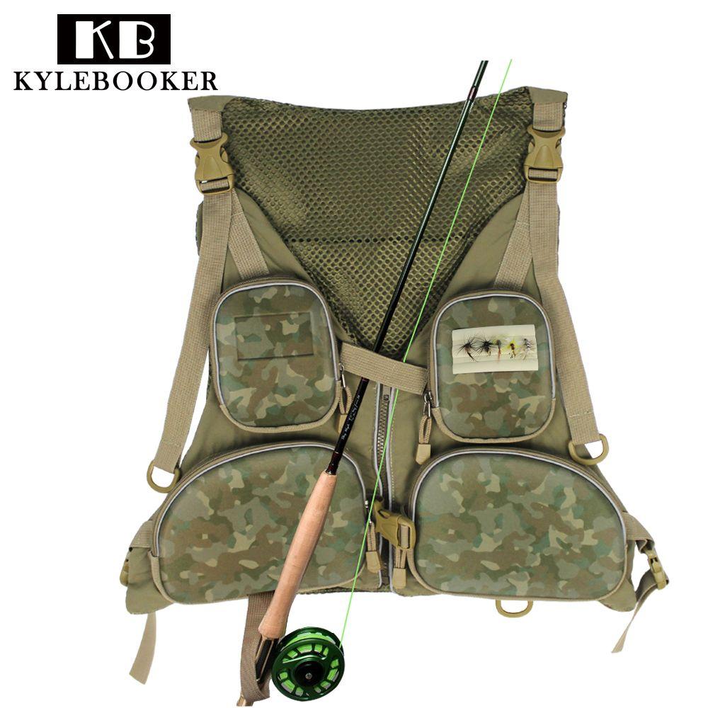 KyleBooker New Multi-pocketed Fishing Vest Fishing Pack Outdoor Handy Adjustable Fly Fishing Vest