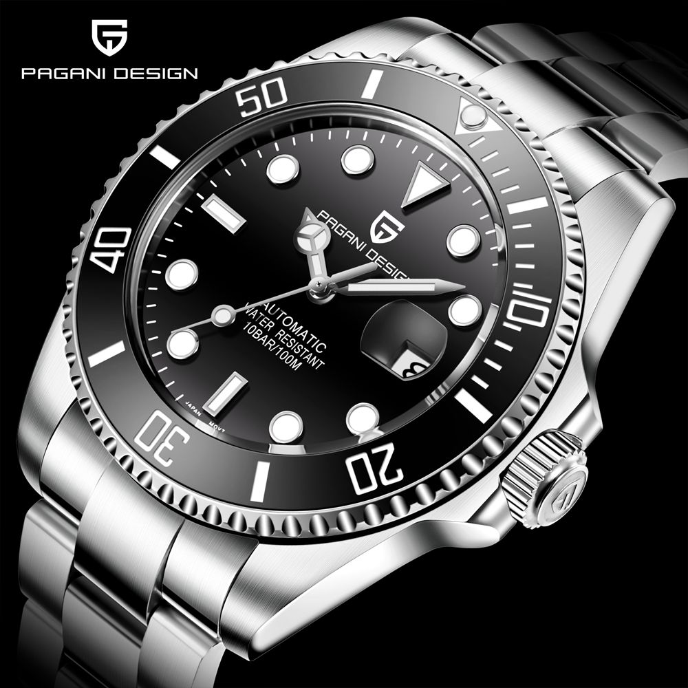 PAGANI DESIGN Business männer Mechanische Uhren Mode Luxus Automatische Selbst-Wind Edelstahl Armbanduhr Relogio Masculino