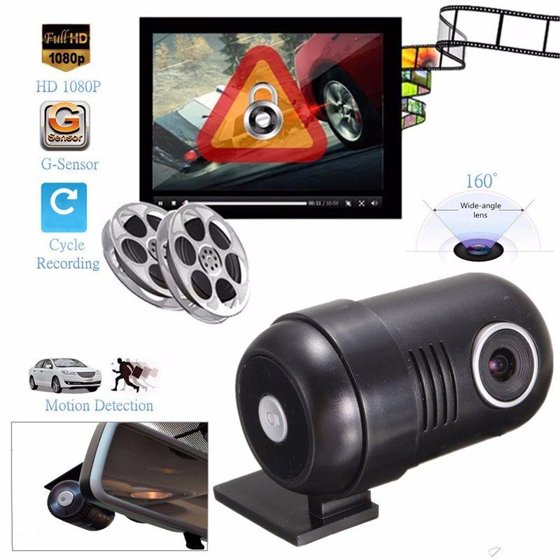 Full HD 1080P Mini Car DVR Dash Camera Vehicle Black Box G-Sensor Video Recorder Night Vision 160 Degree Wide-Angle Lens