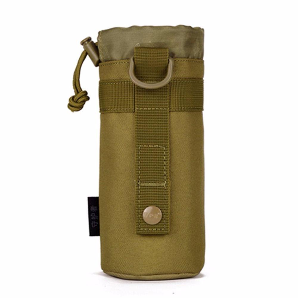 Натуральная небольшой открытый чайник сумка висит обхват талии тактика сумки бутылку пакет прилагается плагин бутылку спортивные Бег