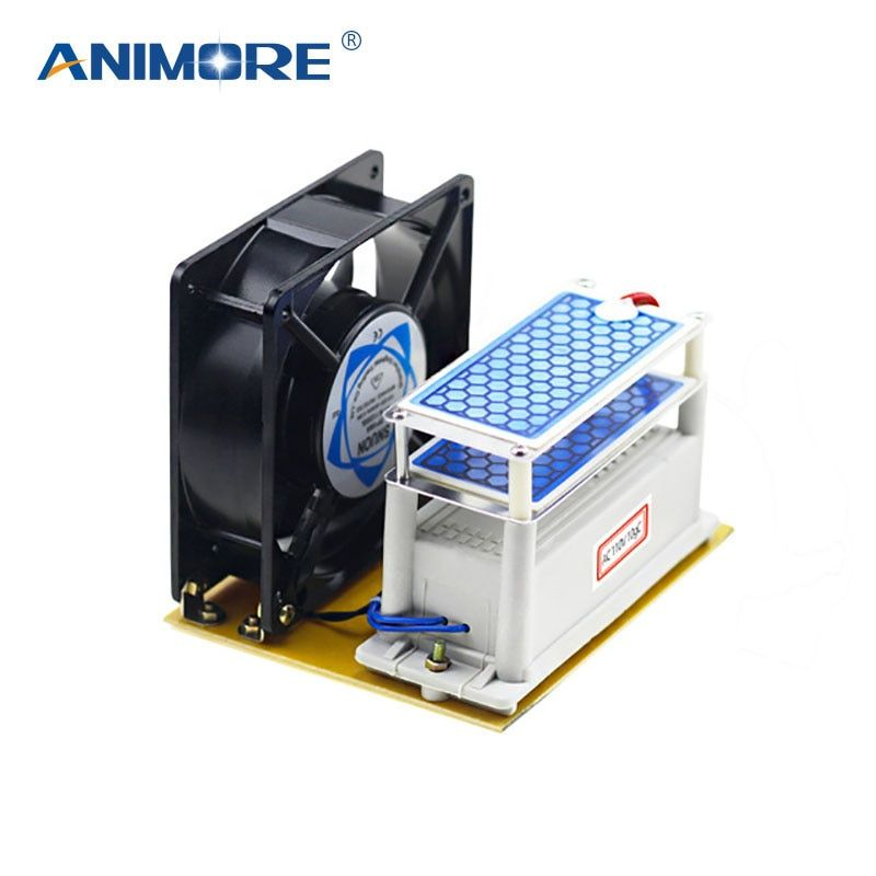 ANIMORE Ozone Generator With Double Sheet Ceramic Plate Long Life 220V/110V Ozonizer Sterilizer Fan Excellent Heat Dissipation