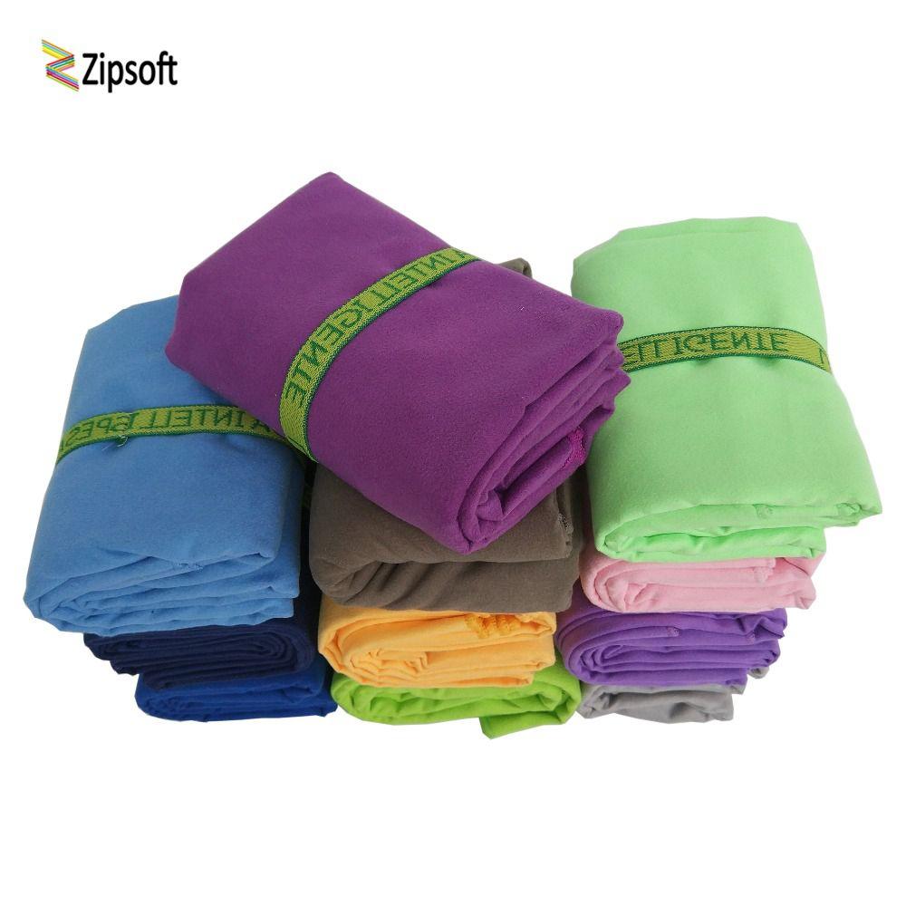 Serviettes de plage en microfibre Zipsoft avec Bandage séchage rapide voyage Sports natation Gym Yoga bain adultes couverture Spa Bady enveloppes 2019
