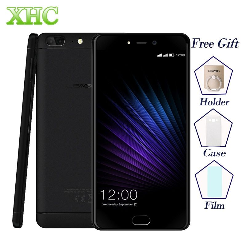 LEAGOO T5 5.5'' Mobile Phones Dual SIM RAM 4GB ROM 64GB Dual 13.0MP Fingerprint ID MTK6750T Octa Core 4G LTE OTG GPS Smartphones