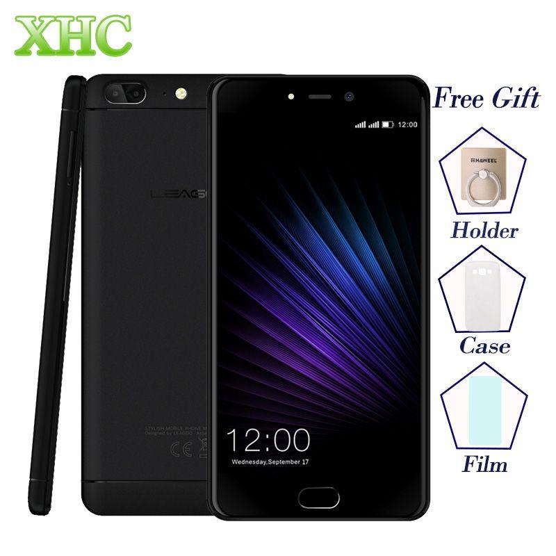 LEAGOO T5 5.5'' Mobile Phones Dual SIM RAM 4GB ROM <font><b>64GB</b></font> Dual 13.0MP Fingerprint ID MTK6750T Octa Core 4G LTE OTG GPS Smartphones