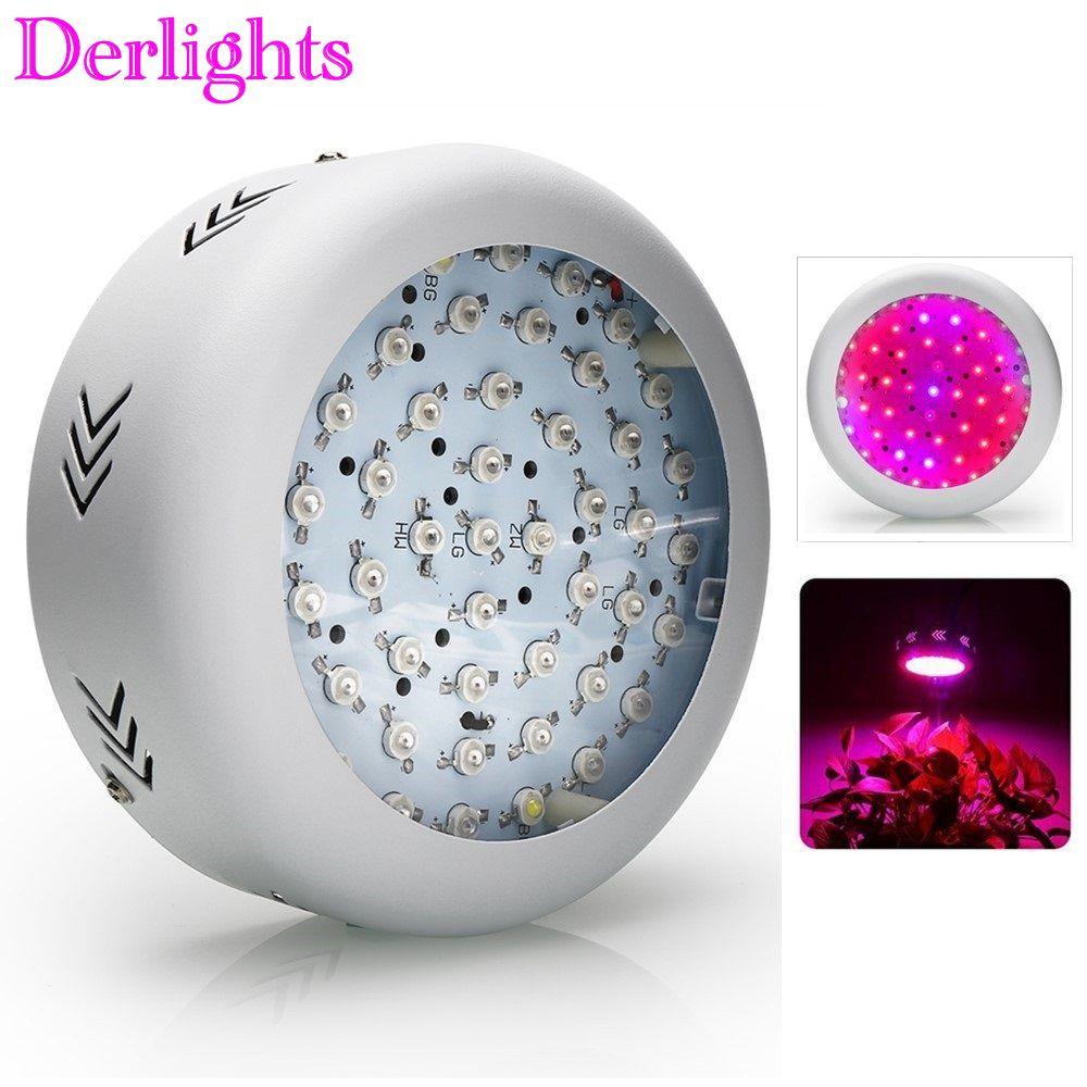 UFO 150 W LED Wachsen Licht 50X3 W LEDs Gesamte Spektrum Wachsen Box 410-730nm Für Innen Gewächshaus Pflanzen blume mit Sehr Hohe Ausbeute