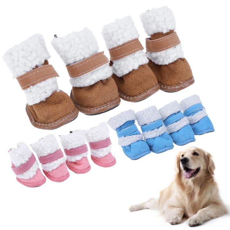 Klassische Pet Schuhe für Hunde Katzen Winter Kleine Hund Anti-slip Stiefel Yorkshire Schnee Stiefel Hündchen Liefert Pet produkte