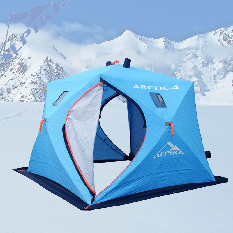 Large space 5-6 people ice fishing tent and three layers of warm oxford winter cotton tent automatic speed tent