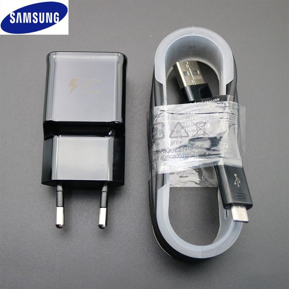 Samsung Original Fast Charger Quick Travel Wall 9V1.67A or 5V2A charge adapter Galaxy s6 s7 edge note4 5 A3 5 8 J3 5 7 Charging
