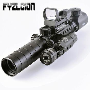 Тактический 3-9X32EG прицел Дальний Красный точечный Лазер/красный/зеленый горошек голографический рефлекторный прицел 3 в 1 комбо для винтовк...