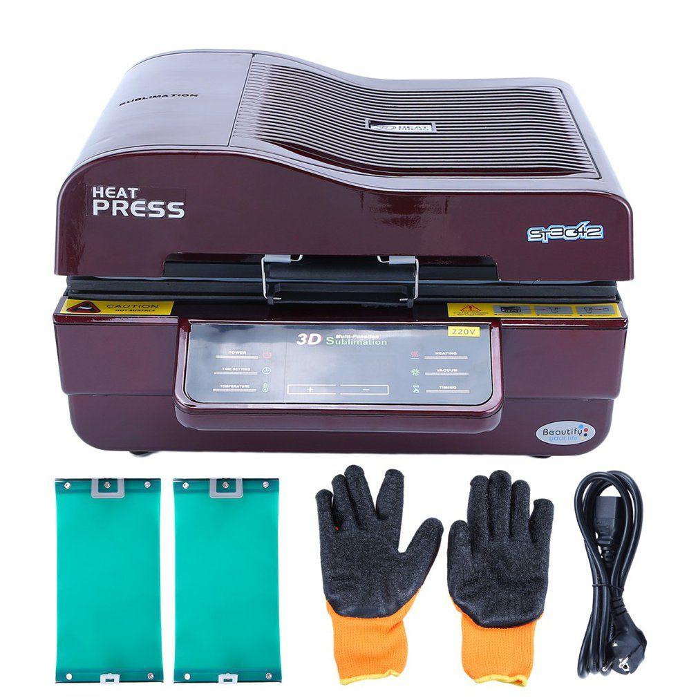Multi-funktion 3D Sublimation Vakuum Hitze Presse Maschine Wärme Transfer Für Telefon Fällen Becher Sets Zeit-saving ST-3042