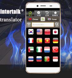 New arrival Intertalk S089+simultaneous translator 16 languages interactive translation cell phone voice translator Tablet 32GB