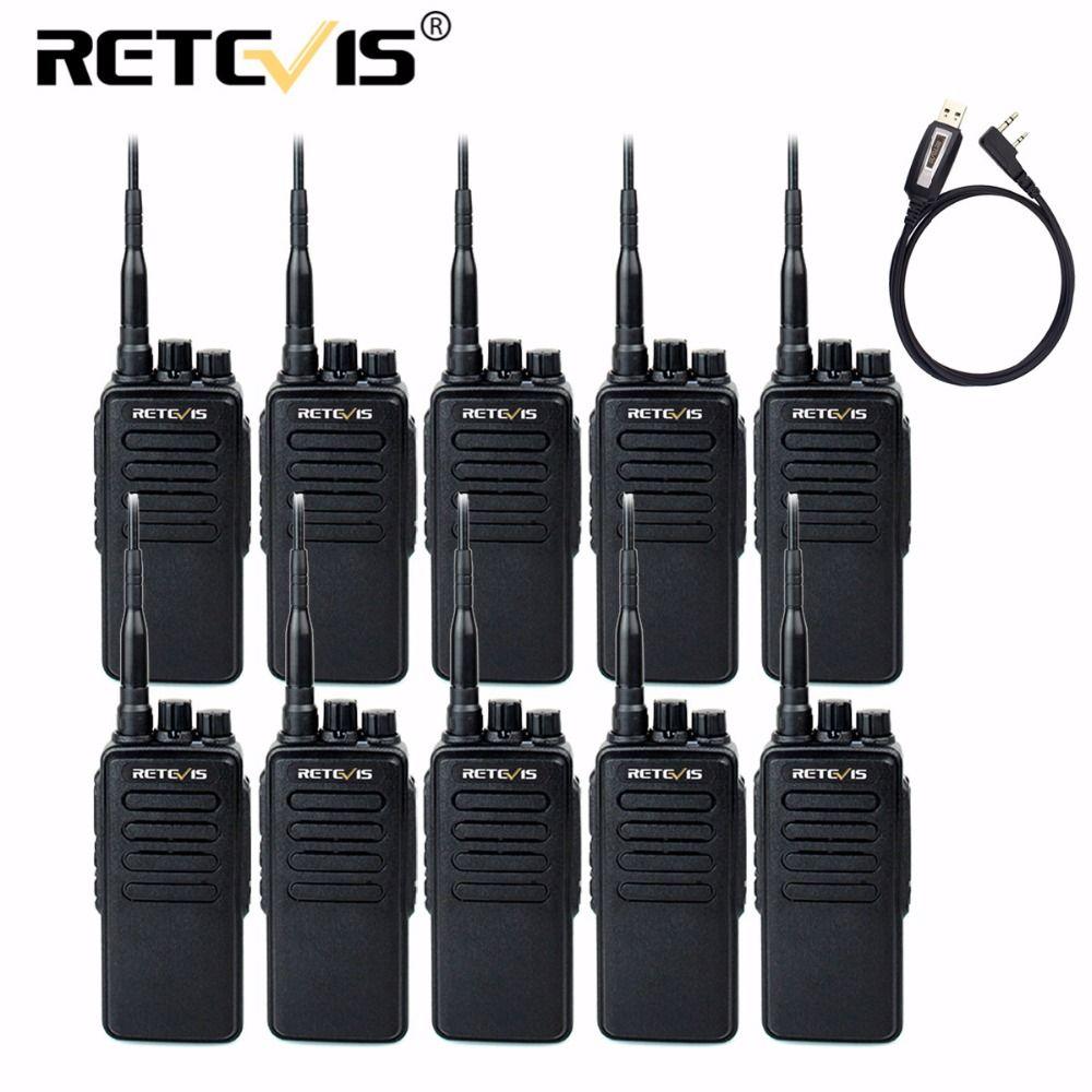 10 stücke 10 watt Walkie Talkie Retevis RT1 VHF (oder UHF) 16CH 3000 mah VOX Scrambler Reisen/Wandern/Jagd Lange Range Two Way Radio