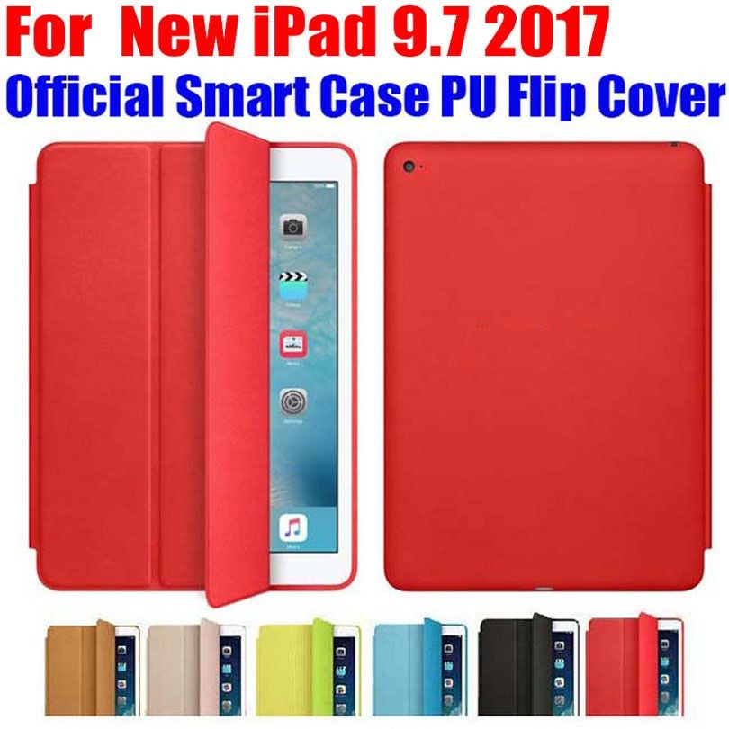 Brand new official Smart Case For iPad 9.7 inch 2017 <font><b>Version</b></font> Ultra thin PU Leather Flip Cover For New iPad 9.7 2017 ID701